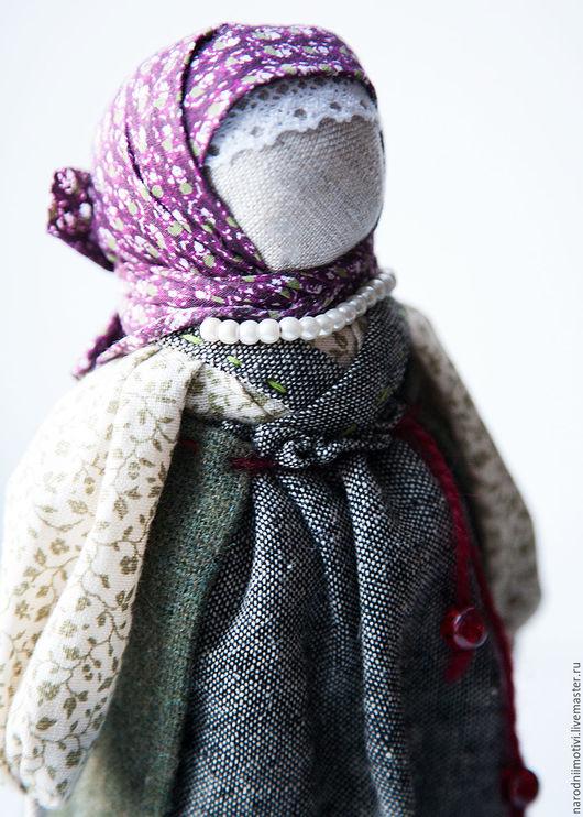 Народные куклы ручной работы, Купить кукла-оберег На беременность, оберег на материнство, славянские обереги, куклы обереги, русские традиции, бордовый, зеленый, серый.