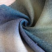 """Аксессуары ручной работы. Ярмарка Мастеров - ручная работа Тканый шарф-палантин """"Голубой Заир"""" Тканый шарф Ткачество. Handmade."""