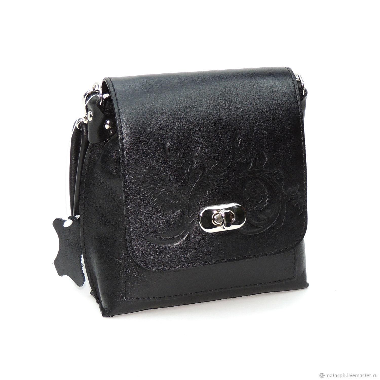 Women's leather bag black Edith, Classic Bag, St. Petersburg,  Фото №1