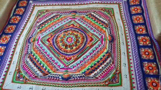 Текстиль, ковры ручной работы. Ярмарка Мастеров - ручная работа. Купить Плед, вязанный крючком, покрывало. Handmade. Плед, крючком