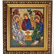 """Картины и панно ручной работы. Ярмарка Мастеров - ручная работа икона """" Святая Троица"""". Handmade."""