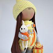 Куклы и игрушки ручной работы. Ярмарка Мастеров - ручная работа Интерьерная текстильная кукла-девочка Sunny. Handmade.