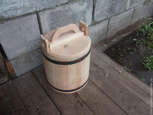 Кухня ручной работы. Ярмарка Мастеров - ручная работа. Купить кадка-ушат для соления 20л. Handmade. Бежевый, кедр