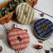Кошельки ручной работы. Ярмарка Мастеров - ручная работа Кошелечки из японского хлопка с фермуаром Разноцветные. Handmade.