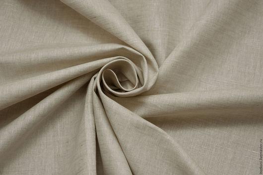Шитье ручной работы. Ярмарка Мастеров - ручная работа. Купить Ткань льняная меланжевая светло-серая арт.01026. Handmade.