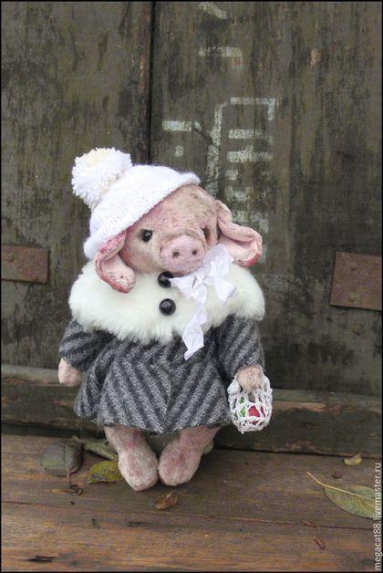 Мишки Тедди ручной работы. Заказать Свинка тедди Нюша. Мental toys (семейный магазин). Ярмарка Мастеров. Советский, плюш