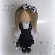 Куклы и игрушки handmade. Livemaster - original item Doll, Textile, Interior Copyright. Schoolgirl.. Handmade.