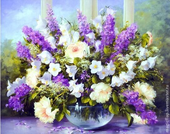 Алмазная вышивка цветов фото