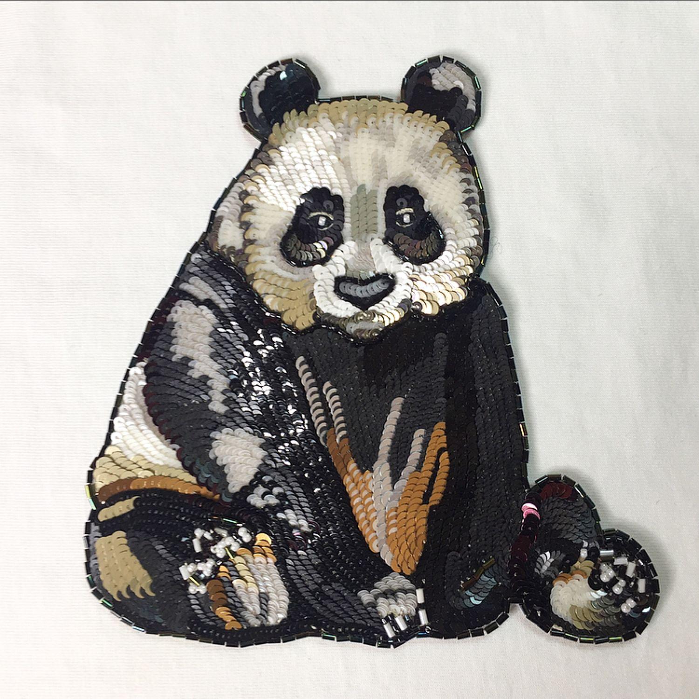 Люневильская вышивка «ПАНДА» . Аппликация на одежду , Аппликации, Сочи,  Фото №1
