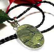 Украшения handmade. Livemaster - original item Pendant with Prehnite natural stone.( ПРК1). Handmade.