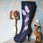 """Обувь ручной работы. Ярмарка Мастеров - ручная работа Валенки """"Сиреневый рай"""". Handmade."""