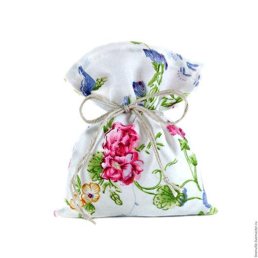 Упаковка ручной работы. Ярмарка Мастеров - ручная работа. Купить Мешочки в цветочек. Handmade. Упаковка, упаковка подарочная, мешочки, хлопок
