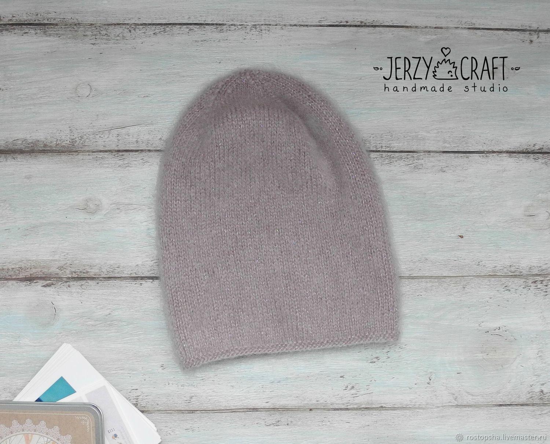 Шапка бини шапка вязаная спицами шапка зимняя мохер шапка люрекс шапка женская шапка бини для девочки шапка зимняя мохер шапка бини люрекс шапочка для девочки мохер шапочка бини зимняя шапка женская