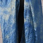 Шарфы ручной работы. Ярмарка Мастеров - ручная работа Шарф шелковый ручного крашения `Море`. Handmade.
