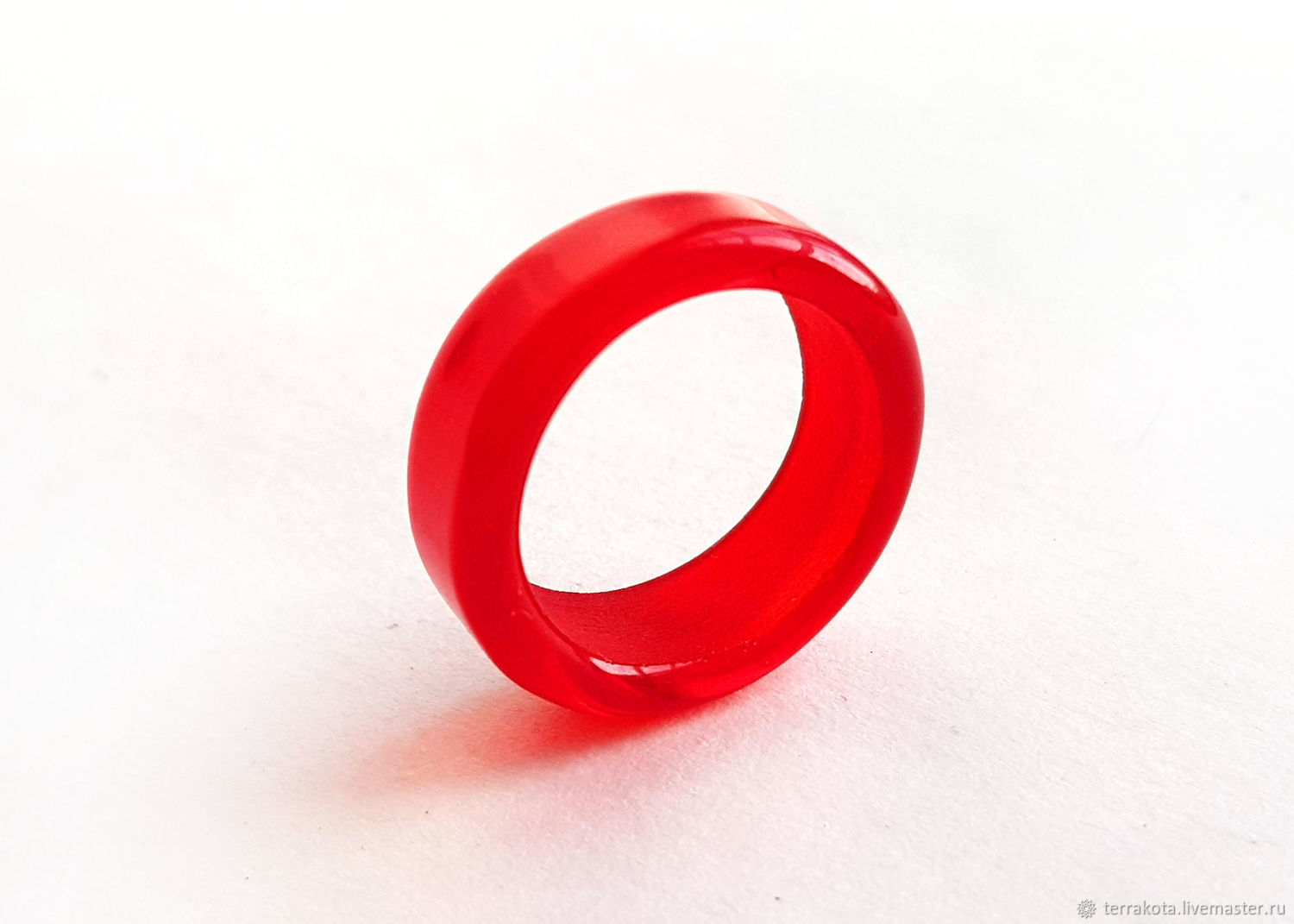 Ring ' Red ' Venetian glass, size 17, Rings, Chelyabinsk,  Фото №1
