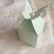 Свадебный салон ручной работы. Ярмарка Мастеров - ручная работа Бонбоньерка Бабочка. Handmade.
