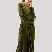Одежда ручной работы. Ярмарка Мастеров - ручная работа Нарядное бархатное платье для вечеринки. Handmade.
