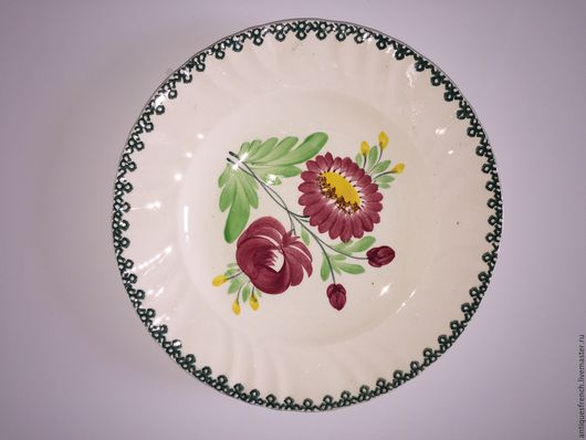 Винтажная посуда. Ярмарка Мастеров - ручная работа. Купить 1900-1910. Антикварная тарелка LONGWY FRANCE. Handmade. Фаянс