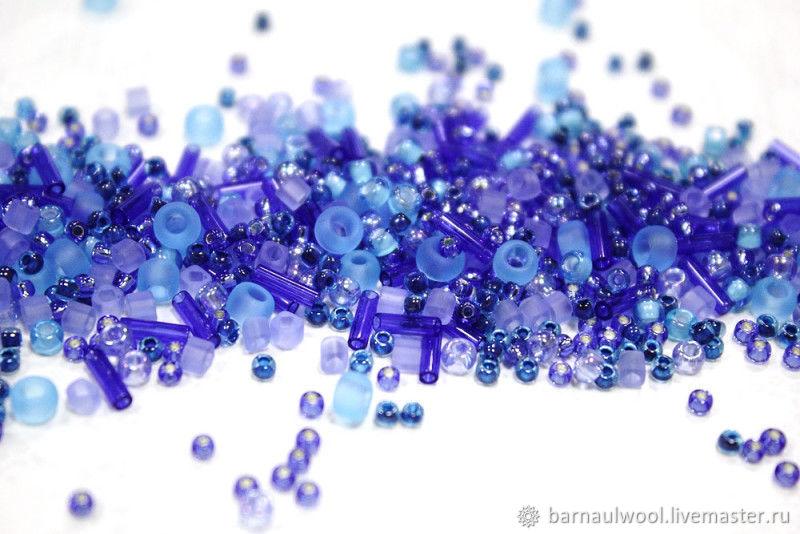 """Набор бисера ТОНО """"фиолетово-голубой"""" Япония, Бисер, Барнаул,  Фото №1"""