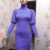 Одежда ручной работы. Ярмарка Мастеров - ручная работа Платье свитер облегающее резинка лапша. Handmade.