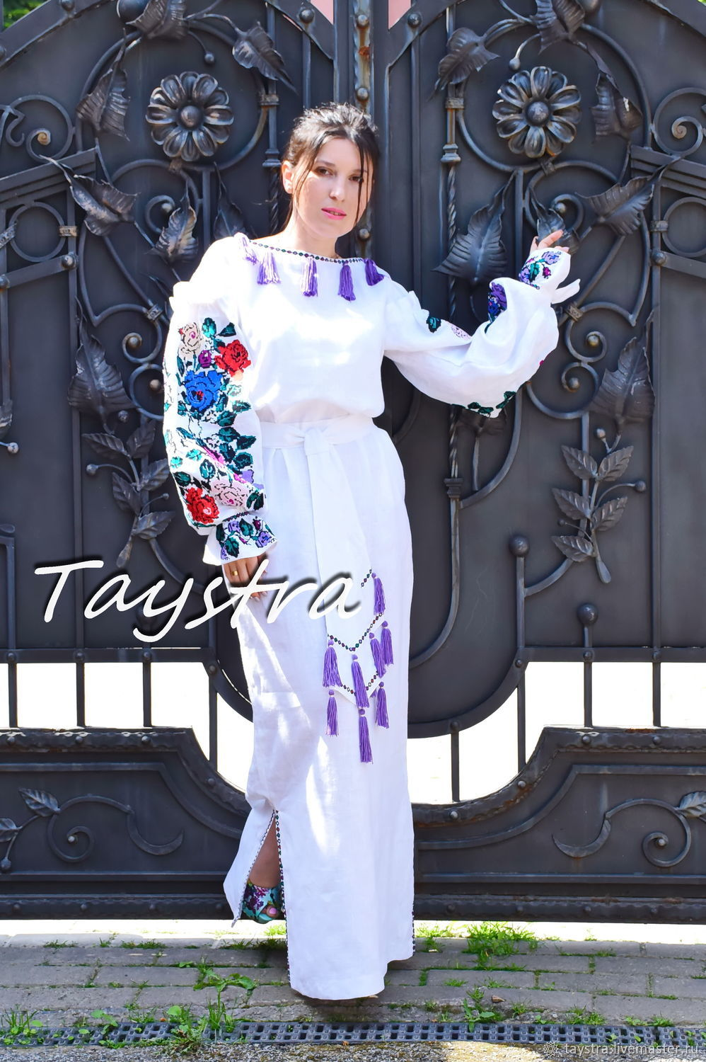 Еmbroidered Maxi dress boho embroidered ethnic style Vita Kin, Dresses, Chernovtsy, Фото №1