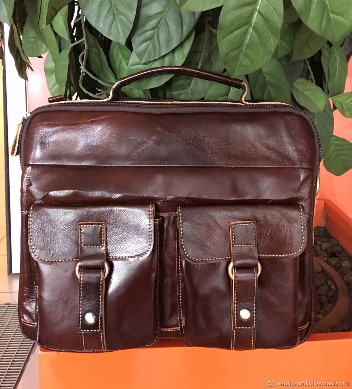 7040fada570c Мужские сумки ручной работы. Ярмарка Мастеров - ручная работа. Купить Мужская  сумка кожаная коричневая ...