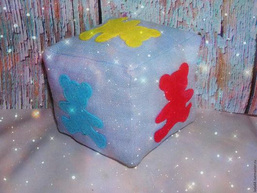 Развивающие игрушки ручной работы. Ярмарка Мастеров - ручная работа. Купить Развивающий кубик для изучения цвета. Handmade. Голубой