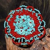 Украшения ручной работы. Ярмарка Мастеров - ручная работа Брошь - каменный цветок. Handmade.