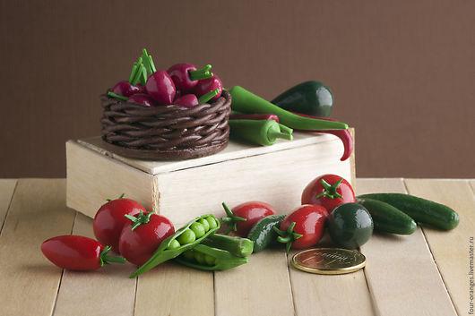 Еда ручной работы. Ярмарка Мастеров - ручная работа. Купить Овощной набор 3 (24 шт). Handmade. Игрушечная еда