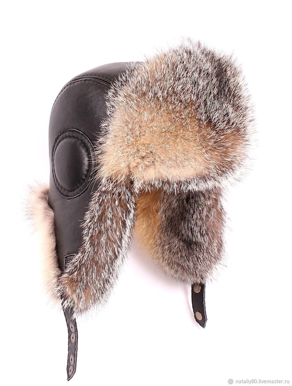 Hats handmade. Livemaster - handmade. Buy Men s ushanka are the Pilot of  the wolf ... e5c34261529