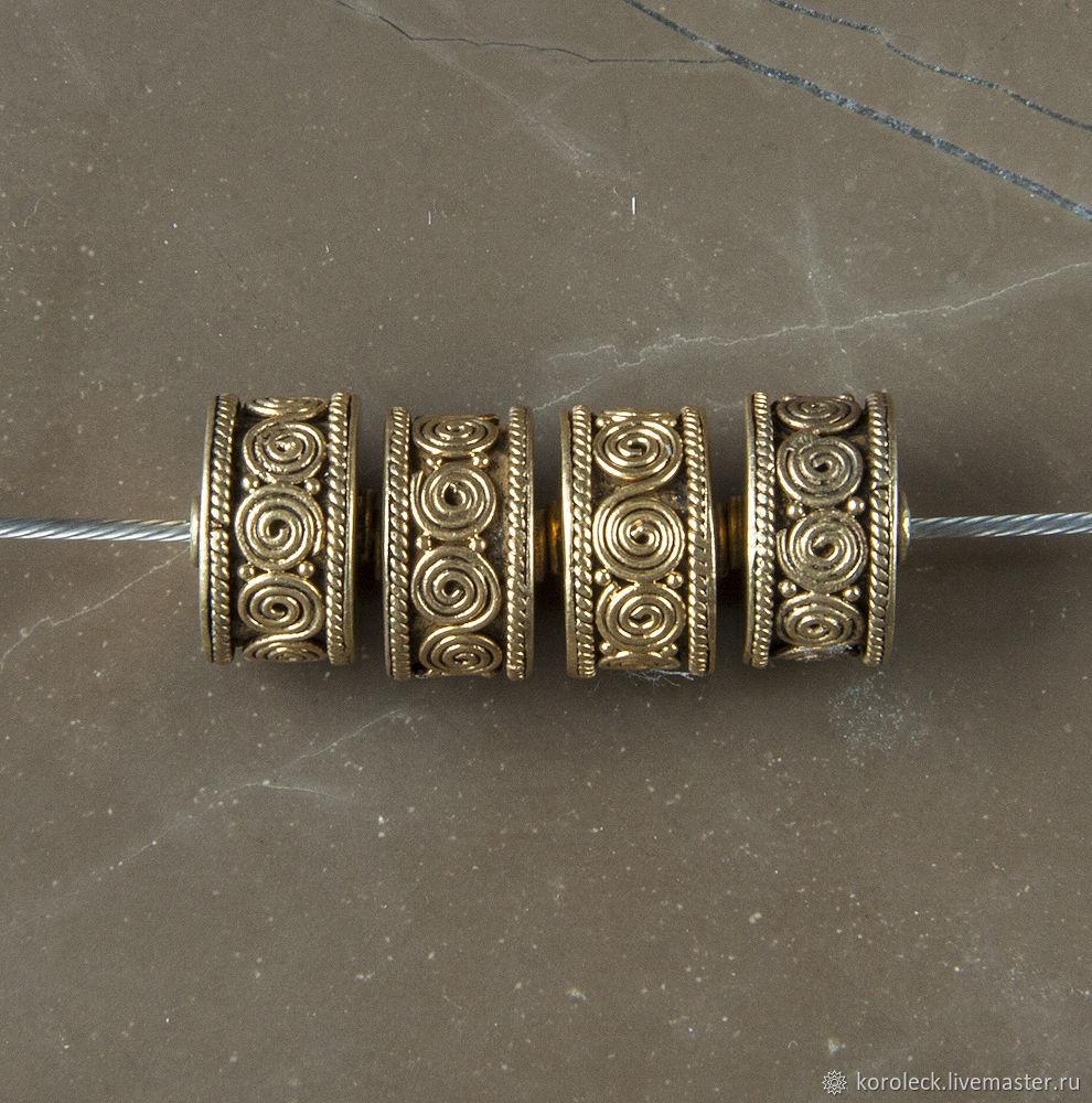 серебряная с позолотой антик Канди, Бусины, Москва,  Фото №1