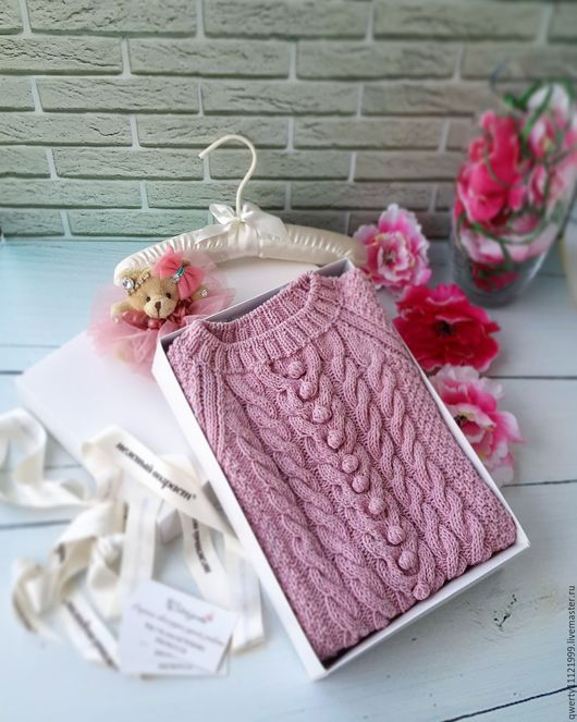 """Одежда для девочек, ручной работы. Ярмарка Мастеров - ручная работа. Купить Джемпер """"Пудрово-розовый Tweed"""". Handmade. Бледно-розовый"""