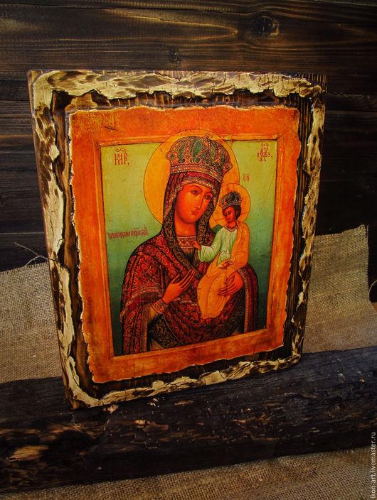 Икона на дереве ручной работы . Богоматерь Черниговская. Создана по авторской технологии