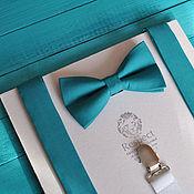 Аксессуары handmade. Livemaster - original item Suspenders tie Classic green / butterfly tie, suspenders. Handmade.