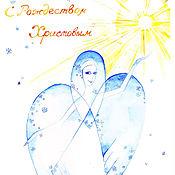 Картины и панно ручной работы. Ярмарка Мастеров - ручная работа Рождественский ангел. Handmade.