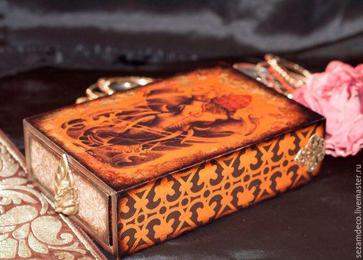 """Шкатулки ручной работы. Ярмарка Мастеров - ручная работа. Купить Шкатулка """"Ганеша"""". Handmade. Старое золото, индийский стиль"""