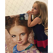 Картины и панно handmade. Livemaster - original item Gift to daughter, daughter for birthday. a portrait from photo to order. Handmade.