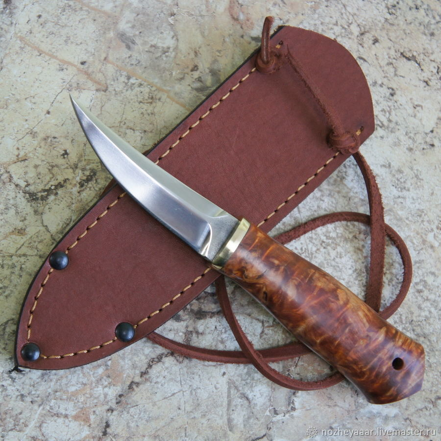 Knife 'Claw' 95h18 hornbeam stable, Knives, Vorsma,  Фото №1