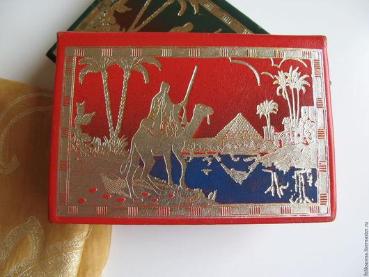 Винтажные сувениры. Ярмарка Мастеров - ручная работа. Купить Футляр для карт из натуральной кожи, Египет, винтаж, 70г.г.. Handmade.