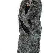 Одежда ручной работы. Ярмарка Мастеров - ручная работа Меховое пальто из чернобурки Накидка Кейп. Handmade.