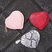 Сумки и аксессуары ручной работы. Ярмарка Мастеров - ручная работа кошелек в виде сердца из кожи питона. Handmade.