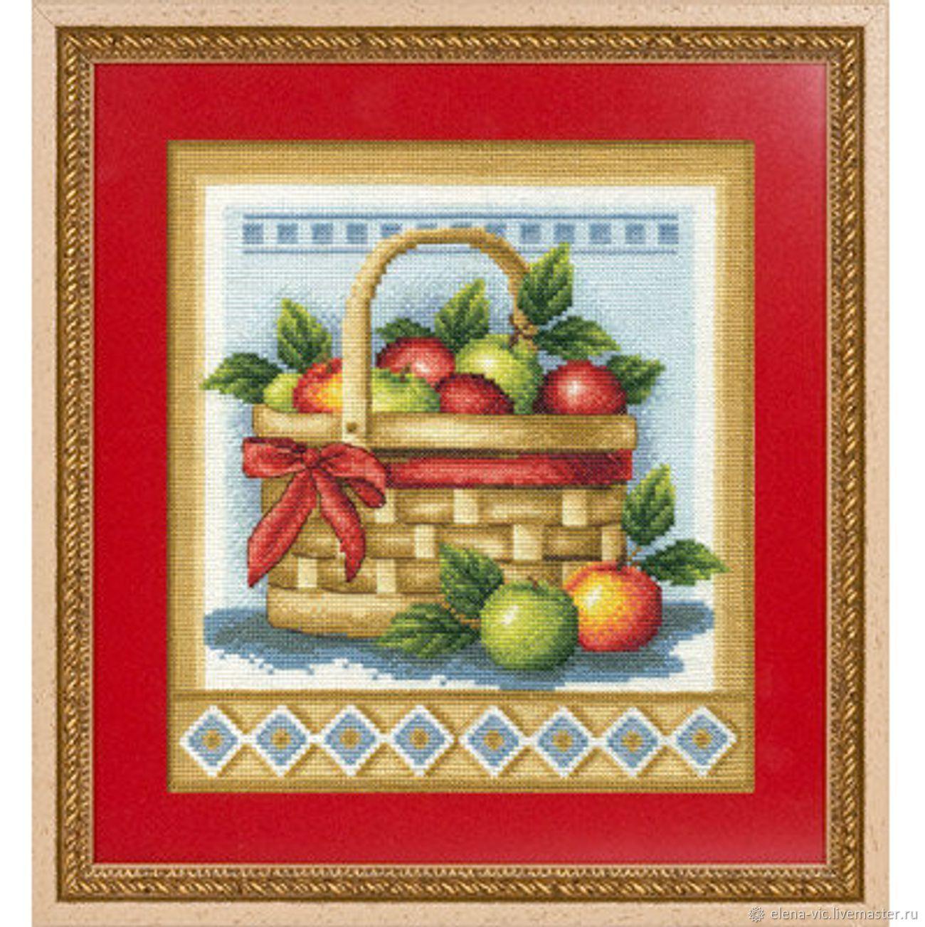 """Набор для вышивания Panna """"Корзинка с яблоками"""", Схемы для вышивки, Смоленск,  Фото №1"""