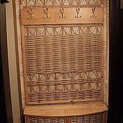 Для дома и интерьера ручной работы. Ярмарка Мастеров - ручная работа Вешалка в прихожую плетёная - 1. Handmade.