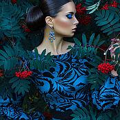 """Одежда ручной работы. Ярмарка Мастеров - ручная работа Платье из джерси """"Жакард"""". Handmade."""