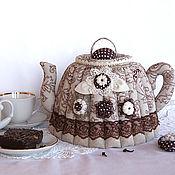 Посуда handmade. Livemaster - original item Heating pad on the kettle linen. Gift, interior decoration, cozy kitchen. Handmade.