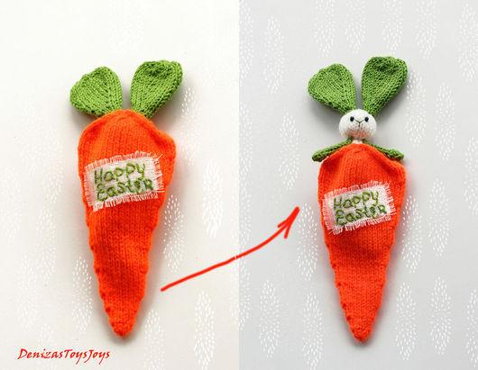"""Обучающие материалы ручной работы. Ярмарка Мастеров - ручная работа. Купить Мастер-класс """"Пасхальная шутка. Зайка в морковке"""". Handmade."""