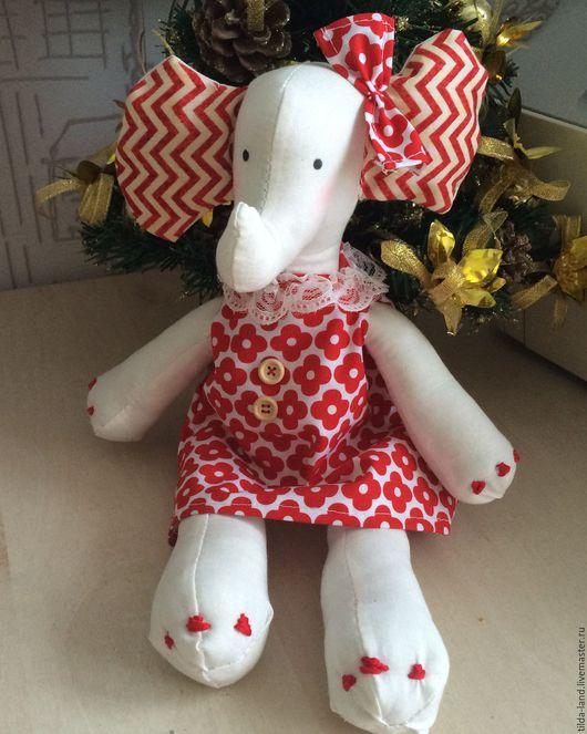 Тильда слоник станет прекрасным подарком для ребёнка