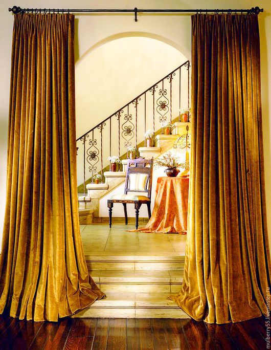 Текстиль, ковры ручной работы. Ярмарка Мастеров - ручная работа. Купить Бархат (Италия). Handmade. Шторы для кухни, портьеры, бархат