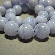 Материалы для творчества handmade. Livemaster - original item Blue agate beads smooth ball, 12 mm. Handmade.