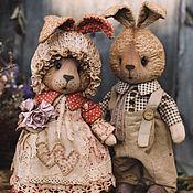 Куклы и игрушки ручной работы. Ярмарка Мастеров - ручная работа Парочка заек.. Handmade.
